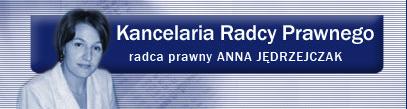 Anna Jędrzejczak Radca prawny