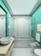 Łazienka w pastelach.