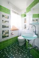 Łazienka zielona.